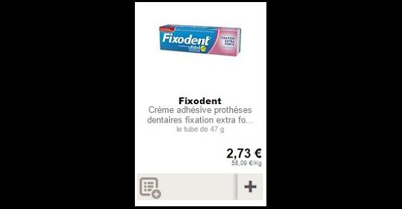 Bon Plan Crème Adhésive Fixodent Partout - anti-crise.Fr