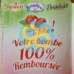 Offre de Remboursement Président, Bridélice, Bridélight : Bombe de Chantilly 100 % Remboursée