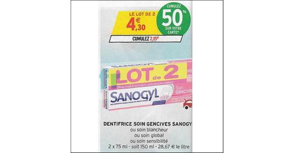 Bon Plan Dentifrice Soin Sanogyl chez Intermarché - anti-crise.fr