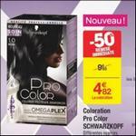 Bon Plan Coloration Pro Color Schwarzkopf chez Carrefour - anti-crise.fr