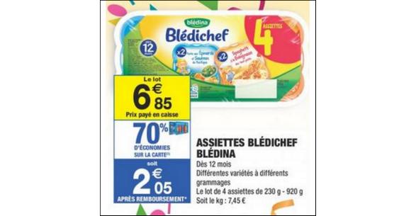 Bon Plan Assiettes Blédichef chez Carrefour Market - anti-crise.fr