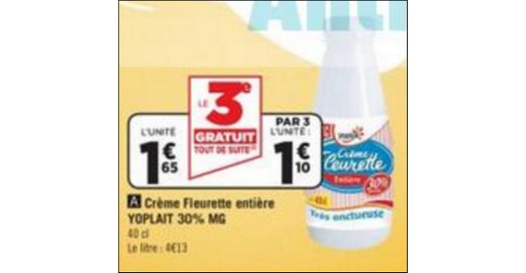 Bon Plan Crème Fleurette Yoplait chez Géant Casino - anti-crise.fr