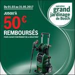 Offre de Remboursement Bosch : De 20 à 50€ Remboursés sur Nettoyeurs Haute Pression - anti-crise.fr