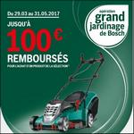 Offre de Remboursement Bosch : De 20 à 100€ Remboursés sur les Tondeuses - anti-crise.fr