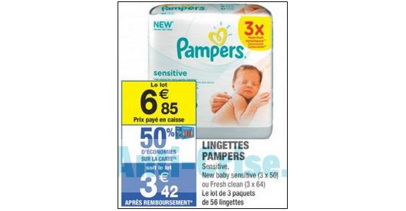 Bon Plan Lingettes Pampers chez Carrefour Market - anti-crise.fr