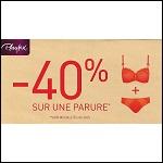 Offre de Remboursement Playtex : 40% Remboursé sur une Parure Flower Elegance - anti-crise.fr