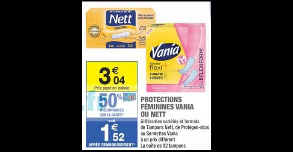 Bon Plan Protège-Slips Vania Kotydia chez Carrefour Market - anti-crise.fr