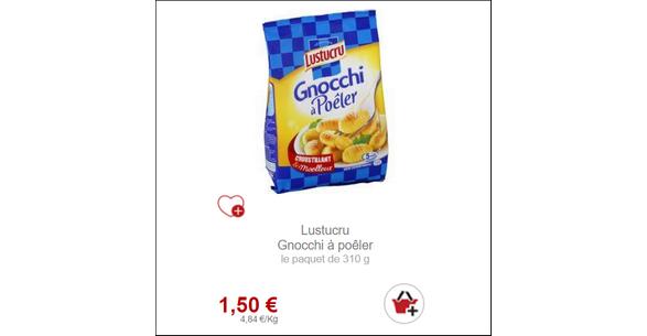Bon Plan Gnocchi à poêler de Lustucru partout - anti-crise.fr