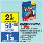 Bon Plan Brownies Granola chez Carrefour Market - anti-crise.fr
