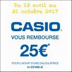 Offre de Remboursement Casio : 25€ Remboursés sur votre calculatrice fx-CP400+E - anti-crise.fr