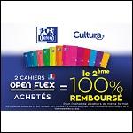 Offre de Remboursement Oxford chez Cultura : 1 Cahier OpenFlex Acheté le 2ème 100% Remboursé - anti-crise.fr