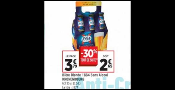 Bon Plan Bière Sans Alcool 1664 chez Géant Casino - anti-crise.fr
