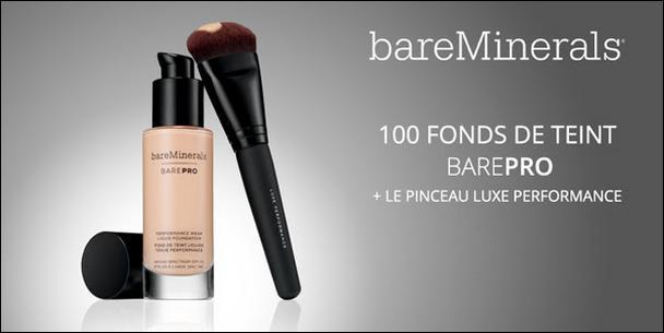 Test de Produit WeLoveBeauty : Fond de Teint barePro SPF 20 + Pinceau Performance de Luxe - anti-crise.fr
