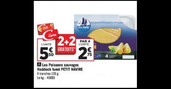 Bon Plan Haddock Fumé Petit Navire chez géant Casino - anti-crise.fr
