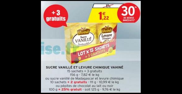 Bon Plan Sucre Vanillé et Levure Vahiné chez Intermarché - anti-crise.fr