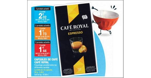 Bon Plan Capsules Café Royal chez Carrefour Market - anti-crise.fr