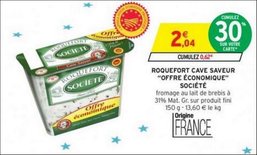 Bon Plan Roquefort Société chez Intermarché - anti-crise.fr