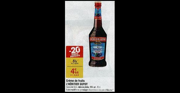 Bon Plan Crème de Fruit L'Héritier Guyot chez Carrefour - anti-crise.fr