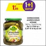Bon Plan Cornichons Aigre-Doux Kuhne chez Intermarché - anti-crise.Fr