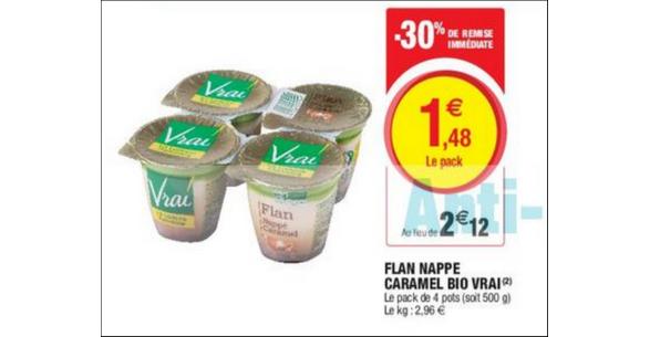 Bon Plan Flan Vrai chez Magasins U - anti-crise.fr