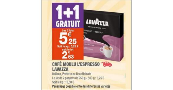 Bon Plan Café Moulu Lavazza chez Carrefour Market - anti-crise.fr