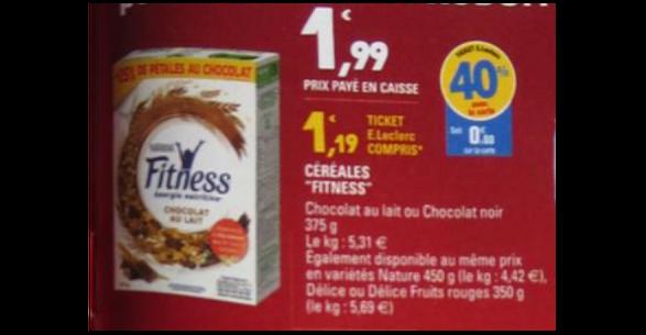 Bon Plan Céréales Fitness Délice chez Leclerc - anti-crise.fr