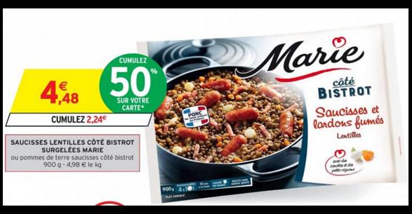 Bon Plan Plat Cuisiné Surgelé Marie chez Intermarché - anti-crise.fr
