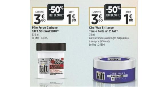 Bon Plan Pâte et Cire Taft chez Géant Casino - anti-crise.fr
