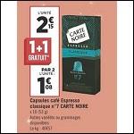 Bon Plan Capsules de Café Compatibles Nespresso Carte Noire chez Géant Casino - anti-crise.fr