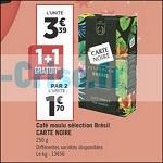 Bon Plan Café Moulu Brésil carte Noire chez Géant Casino - anti-crise.fr
