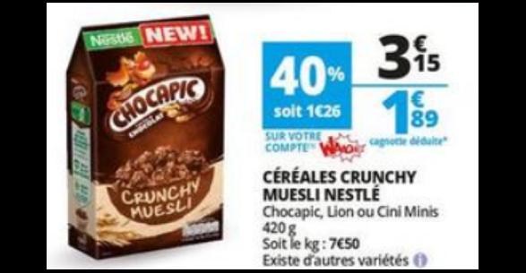 Bon Plan Céréales Crunchy Muesli chez Auchan - anti-crise.fr