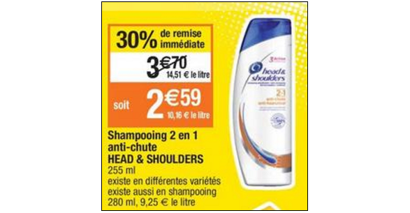 Bon Plan Shampoing Head & Shoulders chez Cora - ati-crise.fr