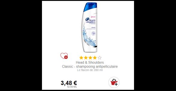 Bon Plan Shampoing Head and Shoulders Partout - anti-crise.fr