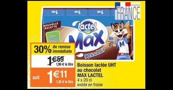 Bon Plan Lactel Max chez Cora - anti-crise.fr