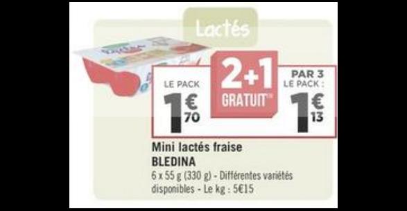 Bon Plan Mini Lactés Blédina chez Géant Casino -anti-crise.fr