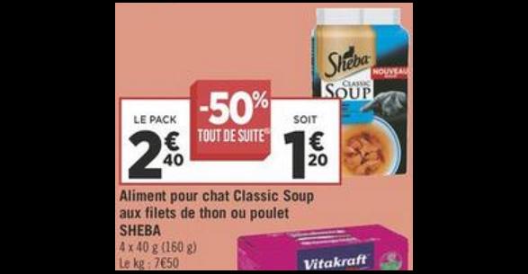 Bon Plan Soupes Sheba chez Géant Casino - anti-crise.fr