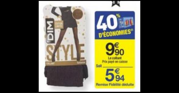 Bon Plan Collants Style de Dim chez Carrefour- anti-crise.fr