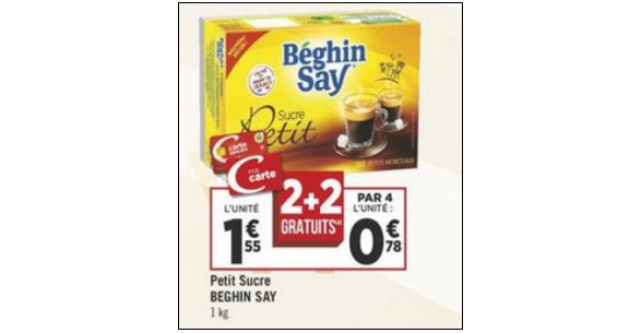 Bon Plan Sucre Beghin Say Petits Morceaux chez Géant Casino - anti-crise.fr