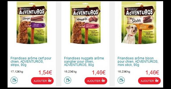 Bon Plan Friandises pour Chien Adventuros Purina Partout - anti-crise.fr