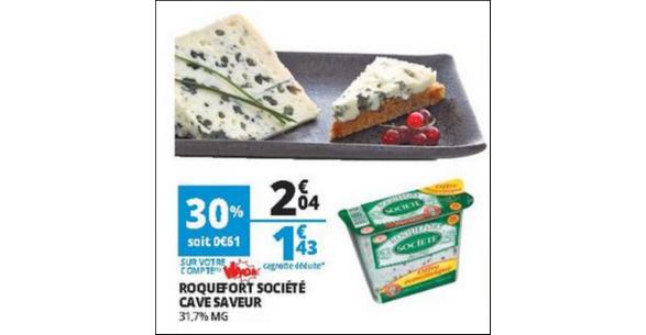 Bon Plan Roquefort Société chez Auchan - anti-crise.fr