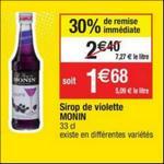 Bon Plan Sirop Monin chez Cora - anti-crise.fr