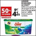 Bon Plan Lessive Ecodoses Le Chat chez Auchan - anti-crise.Fr