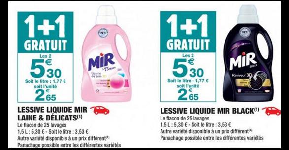Bon Plan Lessives Mir chez Carrefour Market - anti-crise.fr