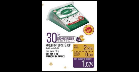 Bon Plan Roquefort Société chez Match - anti-crise.fr