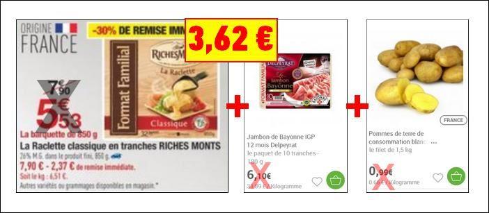 Bon Plan Raclette RichesMonts Jambon Delpeyrat et Pommes de Terre chez Carrefour Jusqu'au 31 Janvier 2018 - anti-crise.fr