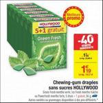 Bon Plan Chewing-Gums Hollywood Green Fresh chez Carrefour