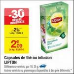 Bon Plan Capsules Lipton chez Carrefour - anti-crise.fr