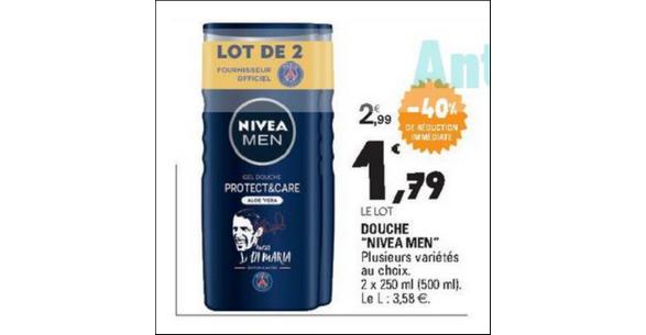Bon Plan Gel Douche Nivea Men chez Leclerc - anti-crise.fr