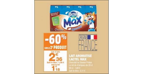 Bon Plan Lactel Max chez Carrefour Market - anti-crise.fr