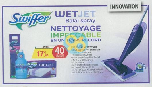 Bon Plan Balai Spray Swiffer Wetjet chez Intermarché - anti-crise.fr